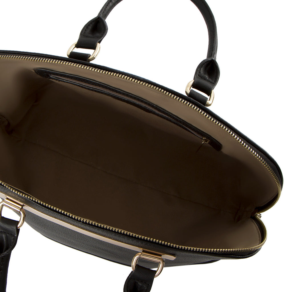 La Mode Dome Satchel - Black