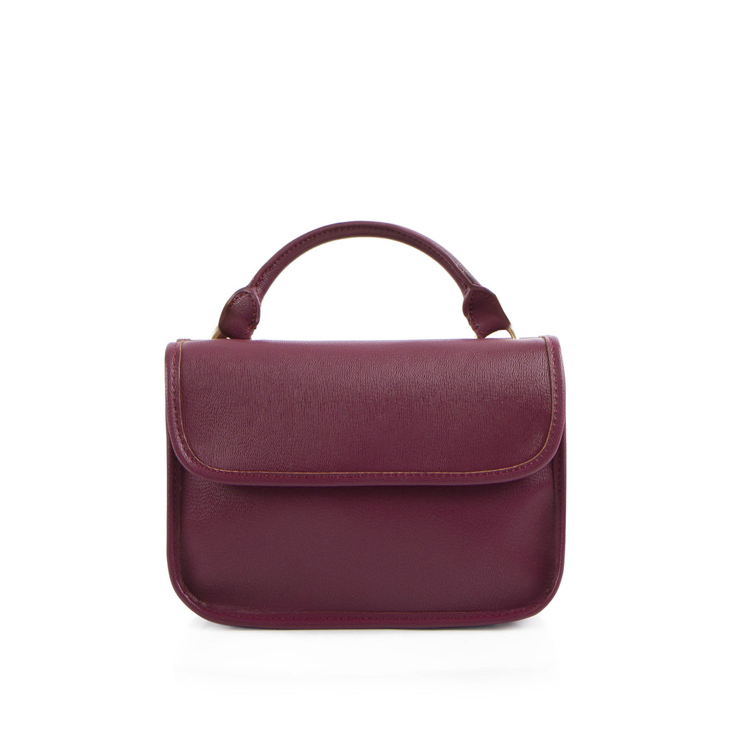 La Mode Mini Dual-Flap Crossbody - Plum