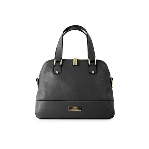 Parisian Small Leather Satchel - Black