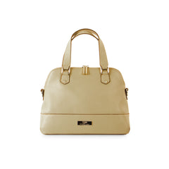 Parisian Small Leather Satchel - Taupe
