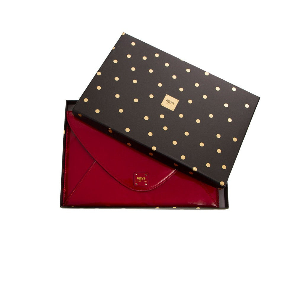 Bright Lights Big City Boxed Envelope Clutch - Crimson Red