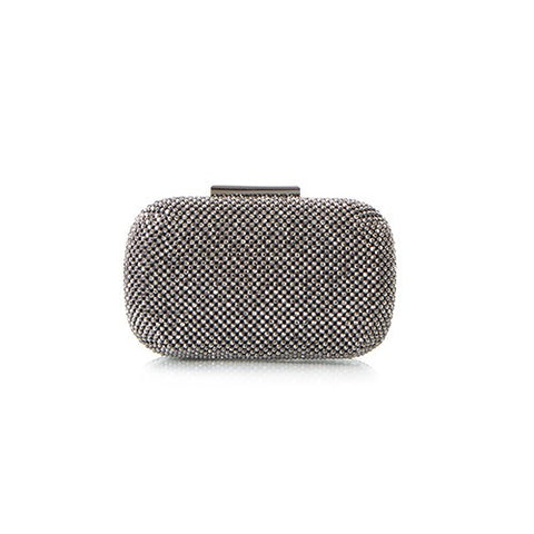 Bright Lights Big City Sparkle Clutch - Gunmetal