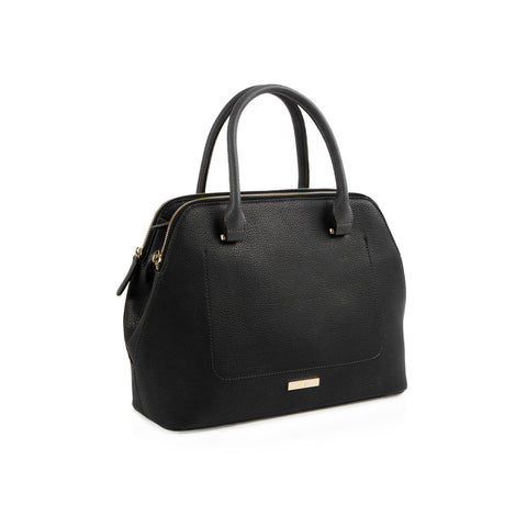 La Mode Multi-Zip Satchel - Black/Grey