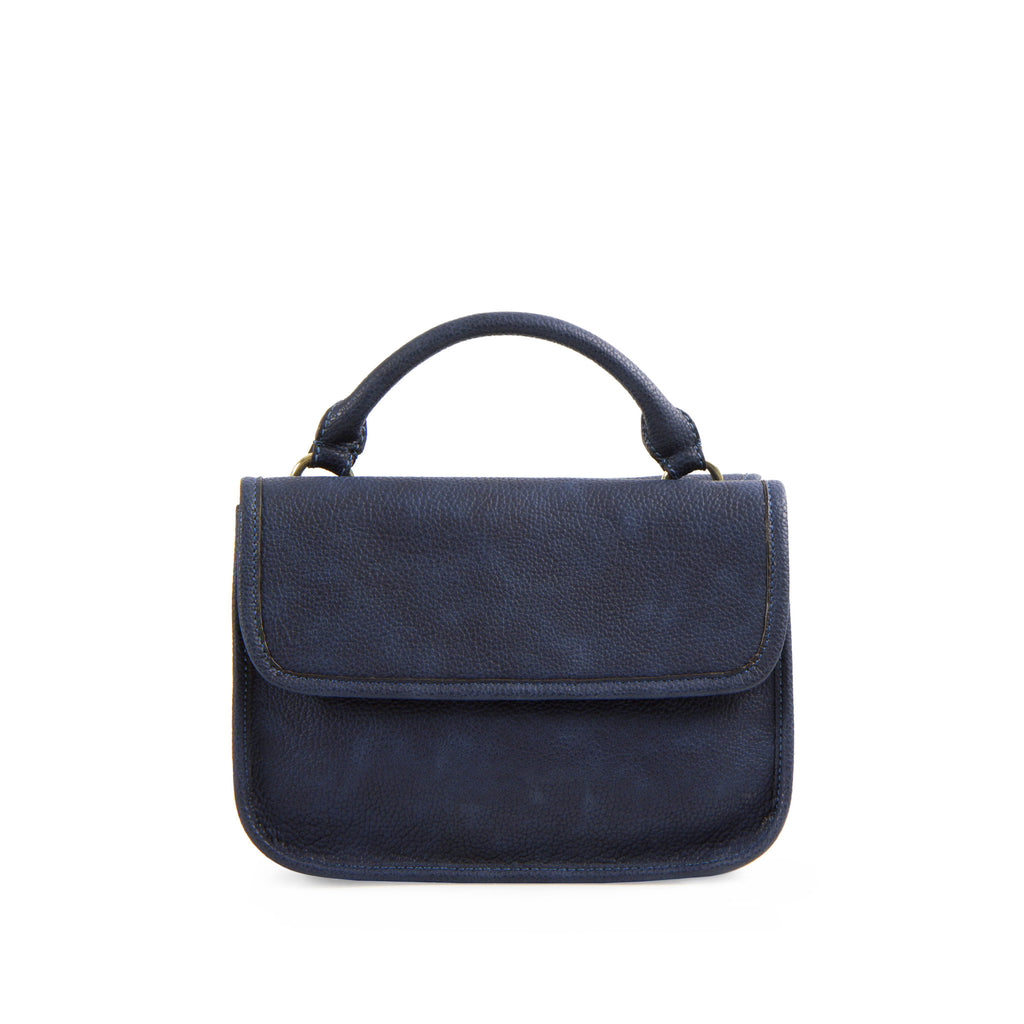 La Mode Mini Dual-Flap Crossbody - Navy