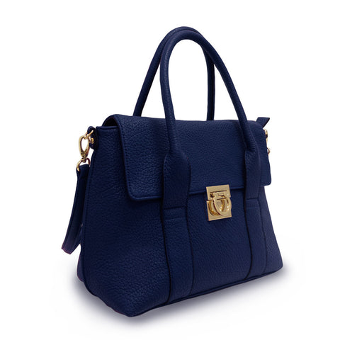 Hint of Brit Medium Work Tote - Ultramarine