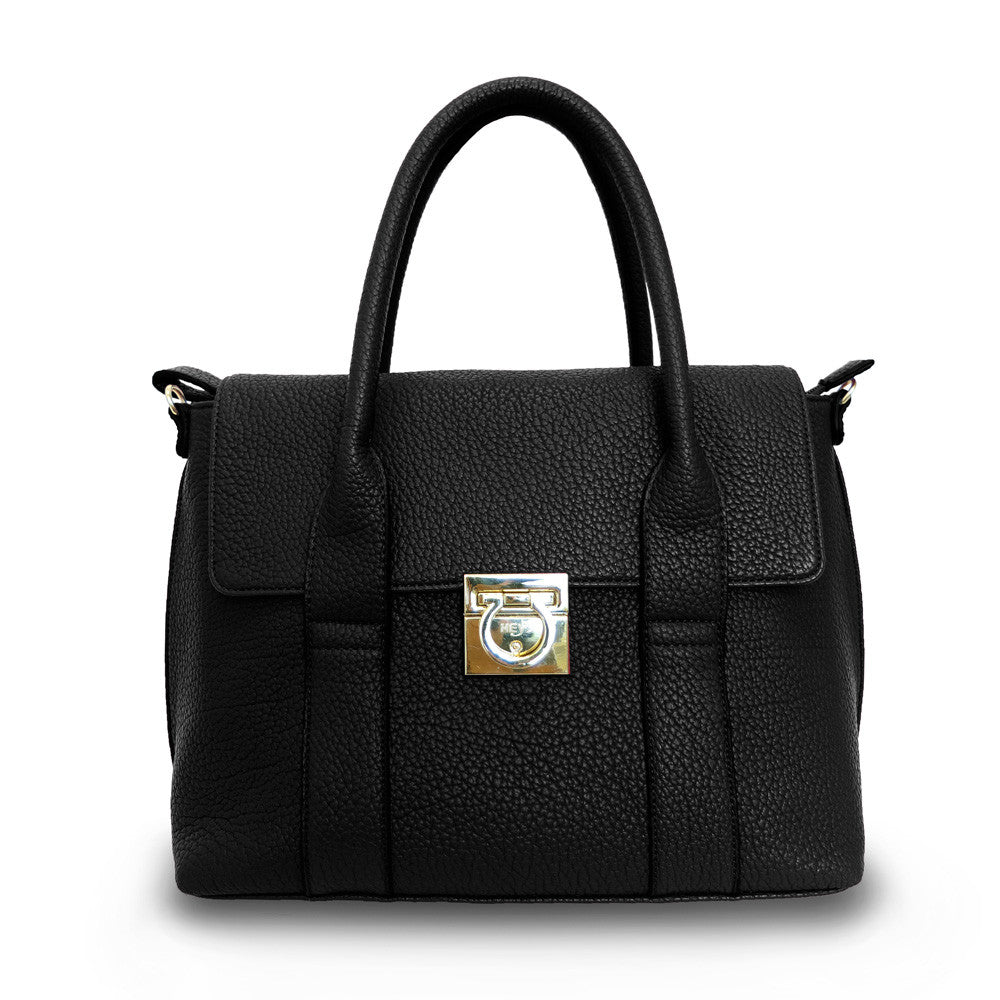 Hint of Brit Medium Work Tote - Black