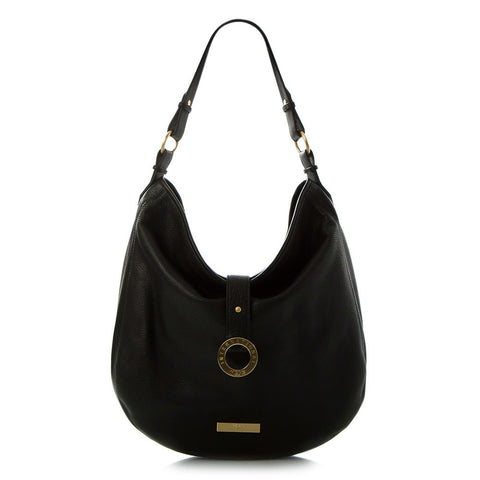 Jewels of Serendib Large Expandable Hobo Bag - Black Moonstone
