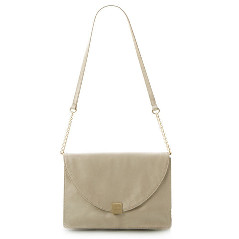 Jewels of Serendib Shimmer Envelope Shoulder Bag - Light Gold