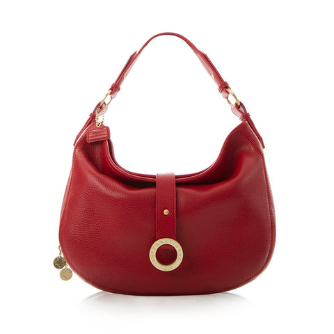 Jewels of Serendib Small Hobo Bag - Ruby