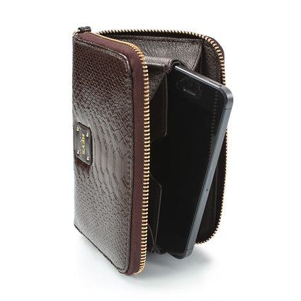 Miami Brights Zippered Phone Wallet - Brown