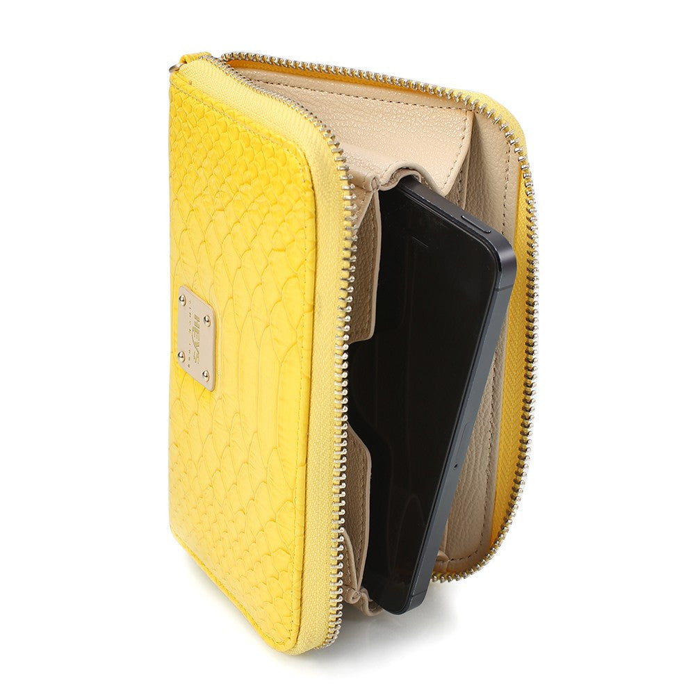 Miami Brights Zippered Phone Wallet - Yellow