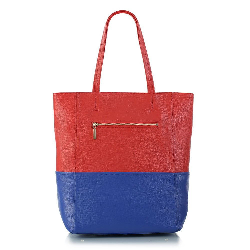 Saint-Tropez Colour Blocked Tote - White/Camel