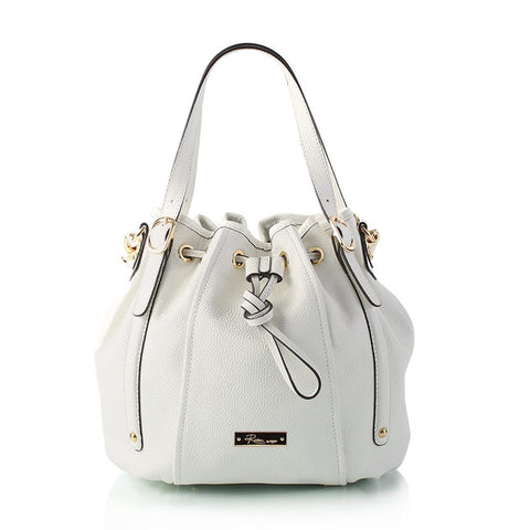 Saint-Tropez Drawstring Bag - White