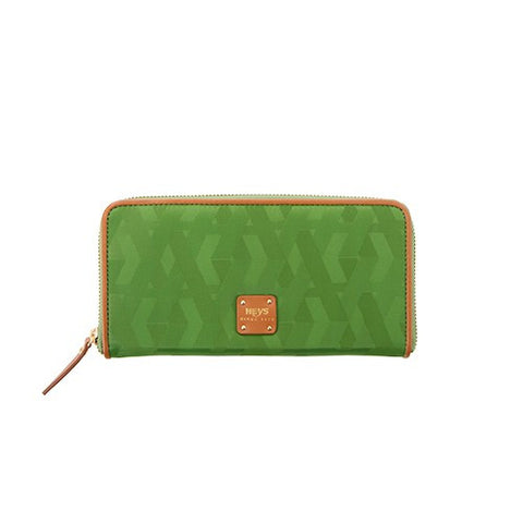 Signature Jacquard Nylon Zippered Wallet - Green
