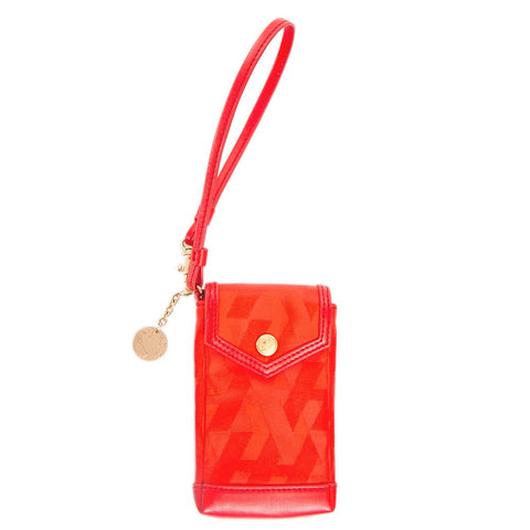 Signature Jacquard Phone Holder - Orange