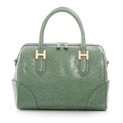Soho Classic Ostrich Small Satchel - Green