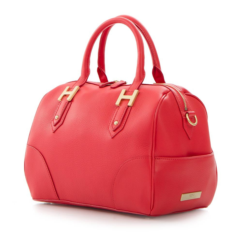 Soho Classic Pebbled Small Satchel - Poppy