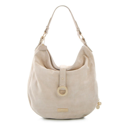 Soho Expandable Suede Large Hobo Bag - Taupe