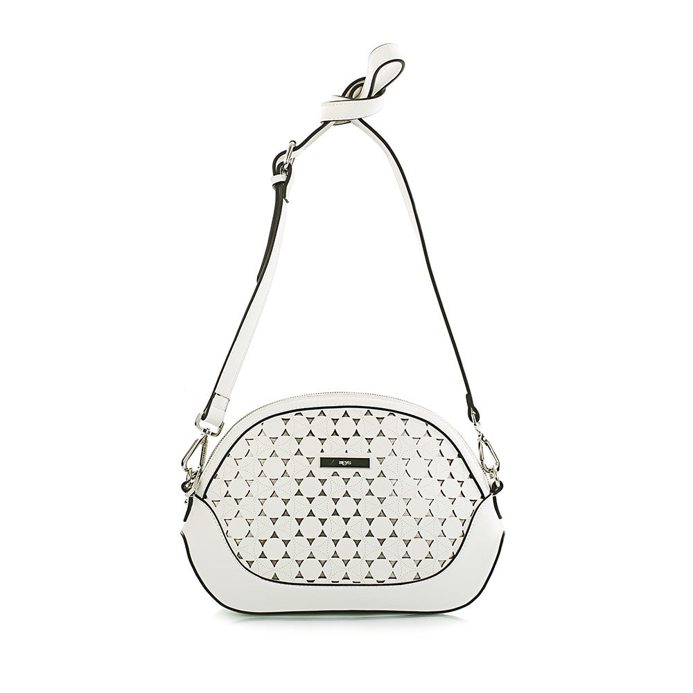 Island Paradise Laser Cut Crossbody - White/Metallic