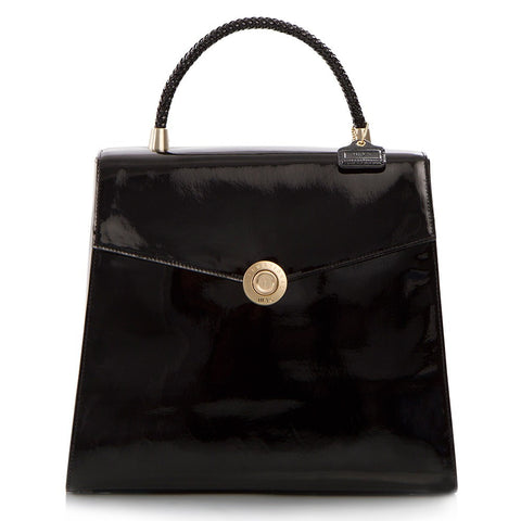 Yorkville Patent Large Arm Bag - Black