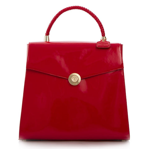 Yorkville Patent Large Arm Bag - Red