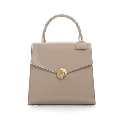 Yorkville Patent Small Arm Bag - Taupe