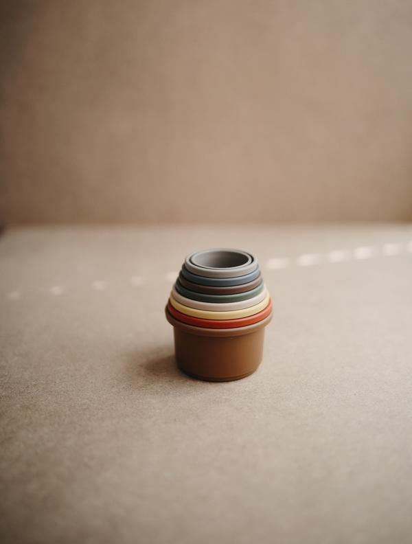 STACKING Cups - Mushie (Retro) -Stapelbecher