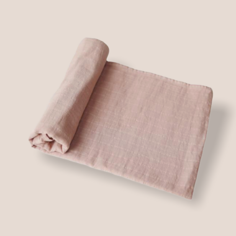 Swaddle Wickeltuch - Mushie (Farbe Blush)