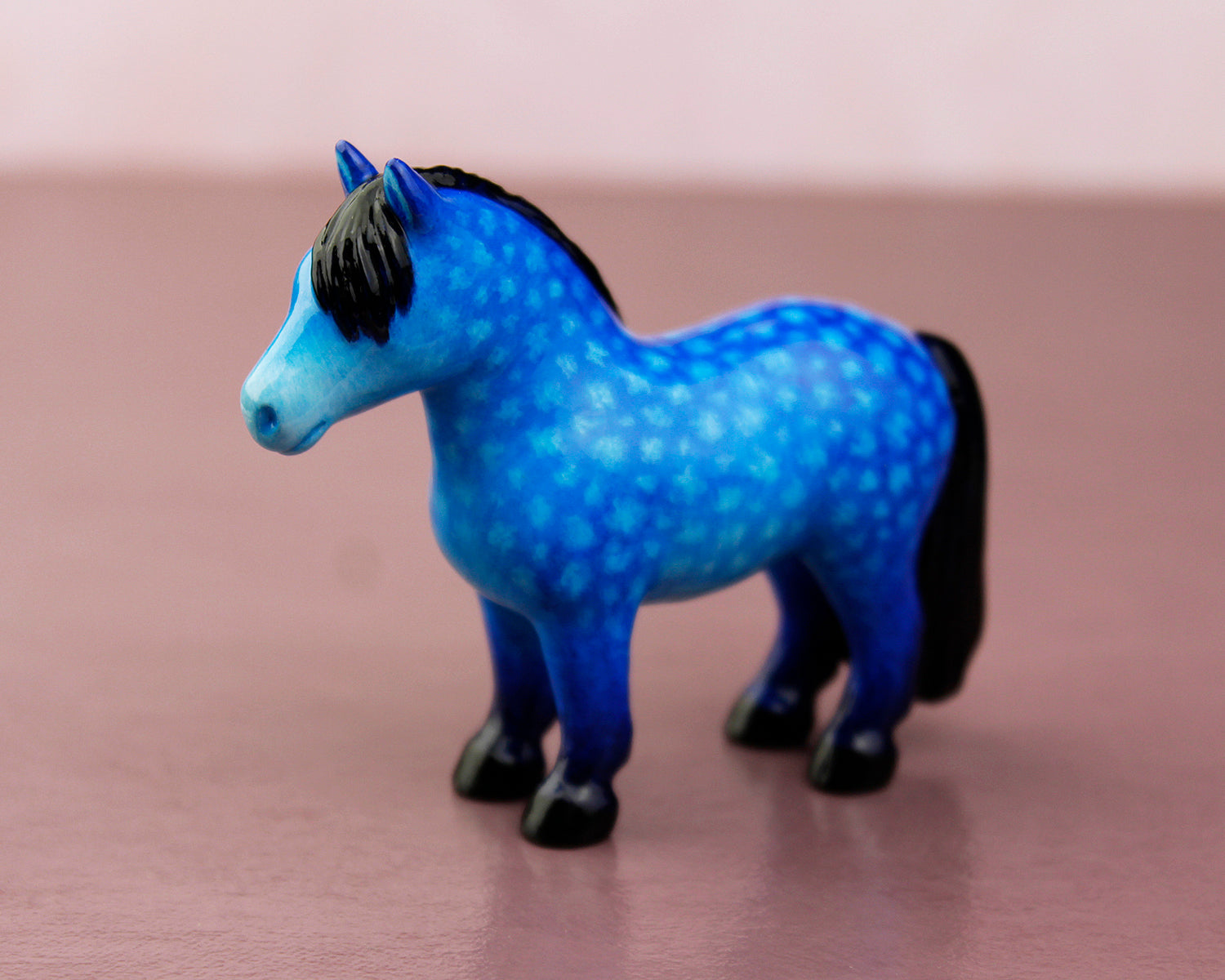 dapple blue pony