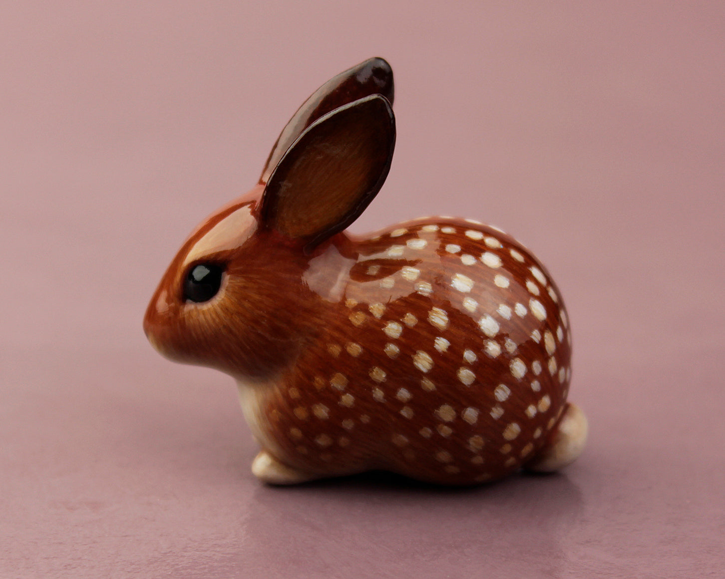 brown spotted rabbit