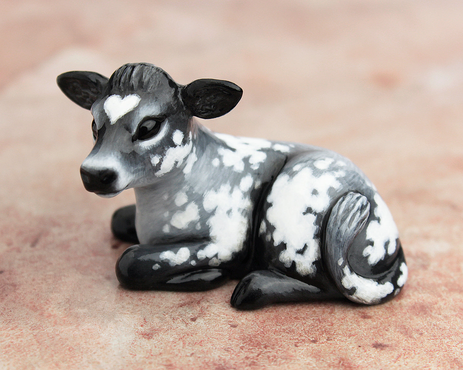 grey heart cow