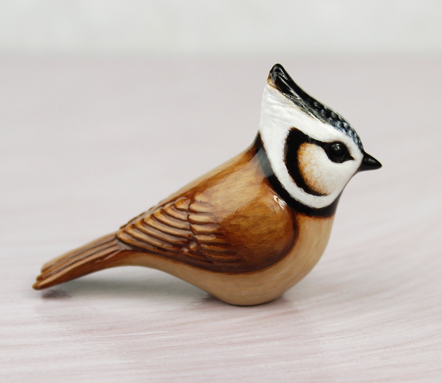 crested tit sculpture