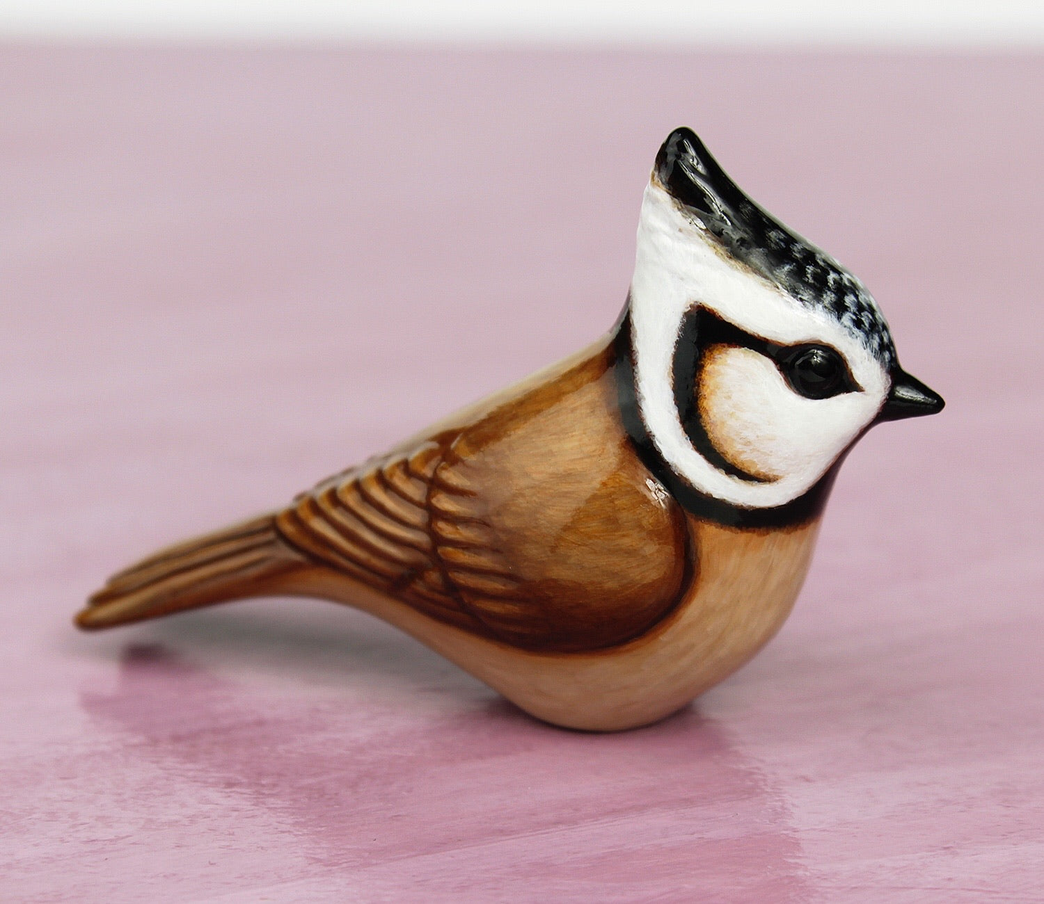 crested tit figurine