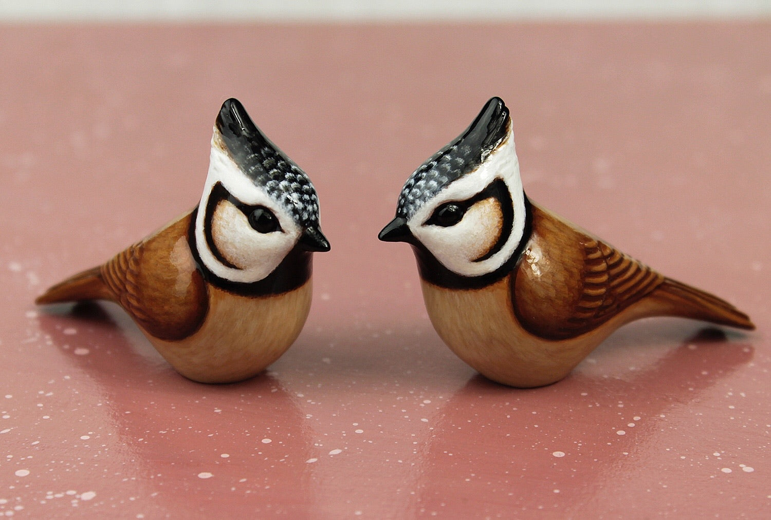 crested tit figurines
