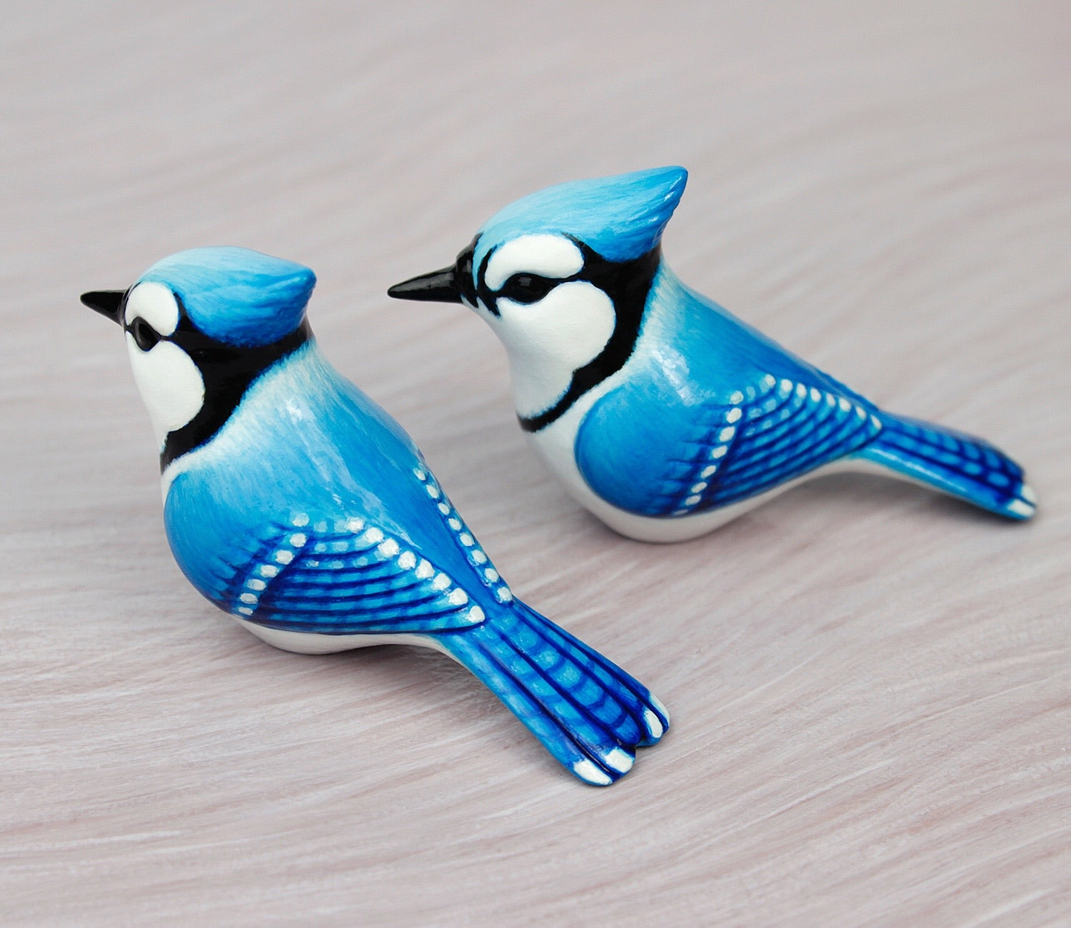 Blue jay figurines