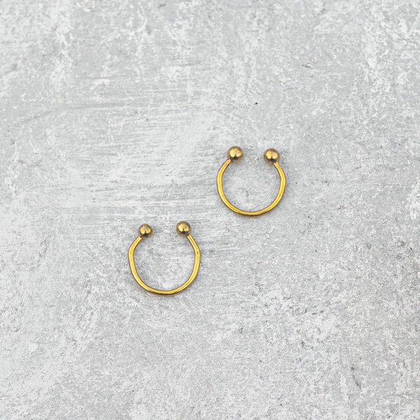 Plain Circle- Septum ring / Nose ring / Ear cuff