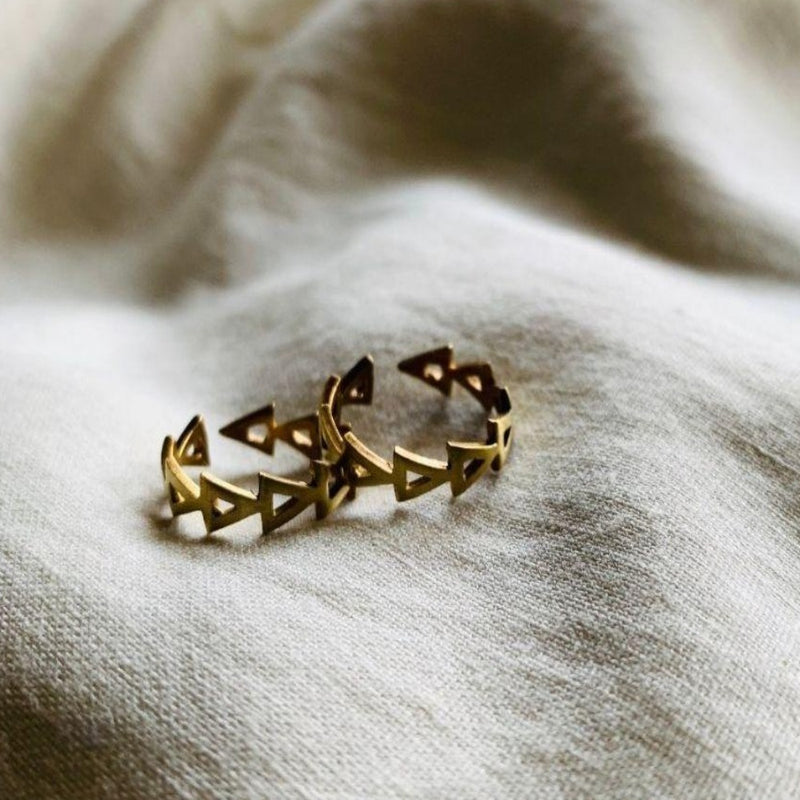 Triangled Toe Ring