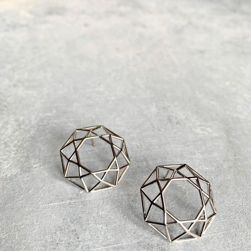 Hexagon Nest - Earring_Silver