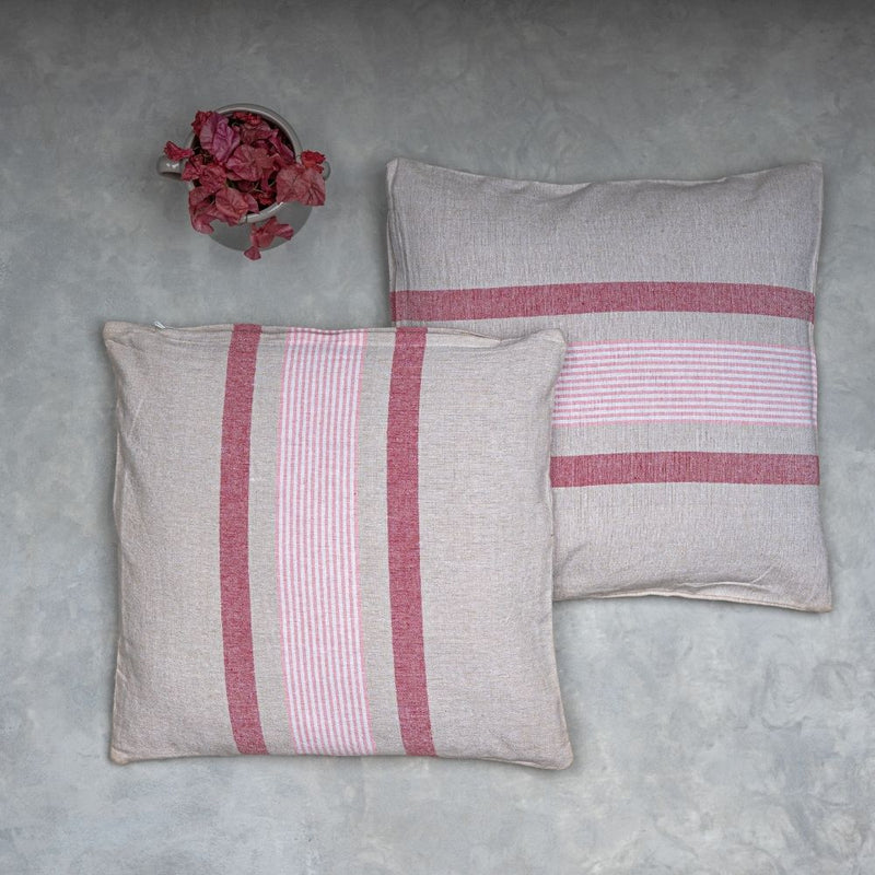 Pink Striped Cushion