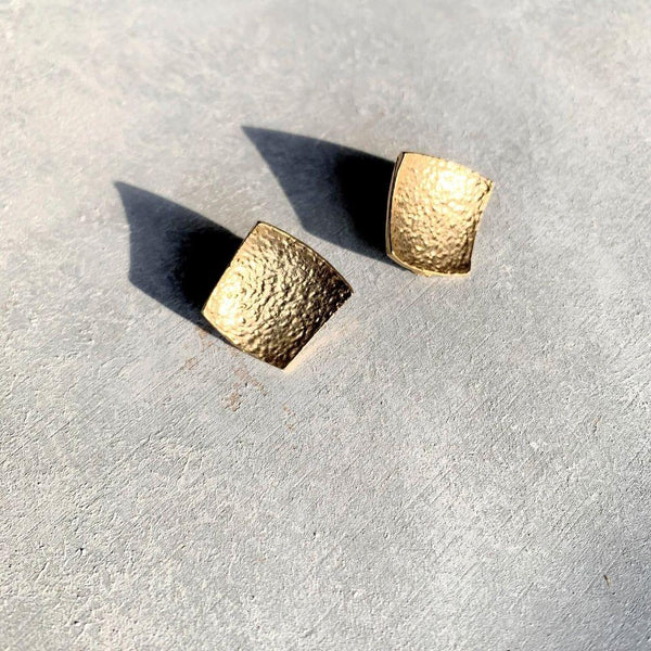 Gold Square Stud