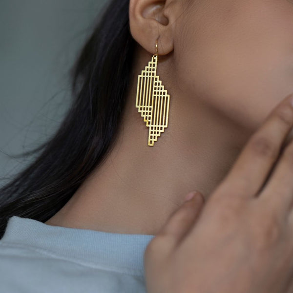 Asymmetrical Caged Earring