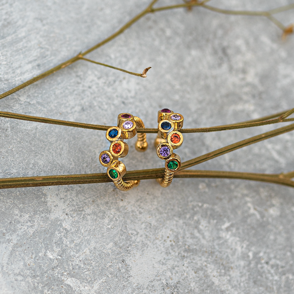 Five Stones Ear cuff (Single Piece)