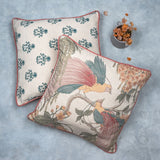 Twin Bird & Floral Printed Cushion Covers