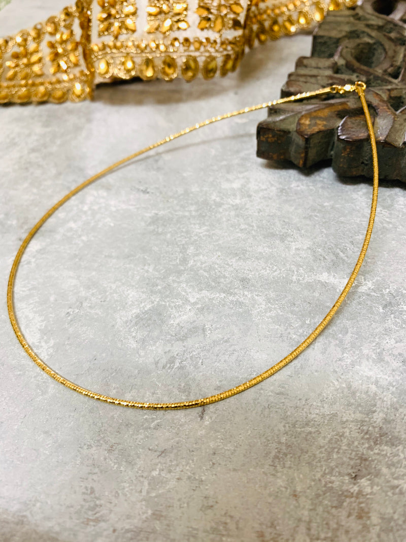 Stiff  Shiny Delicate Gold plated Chain