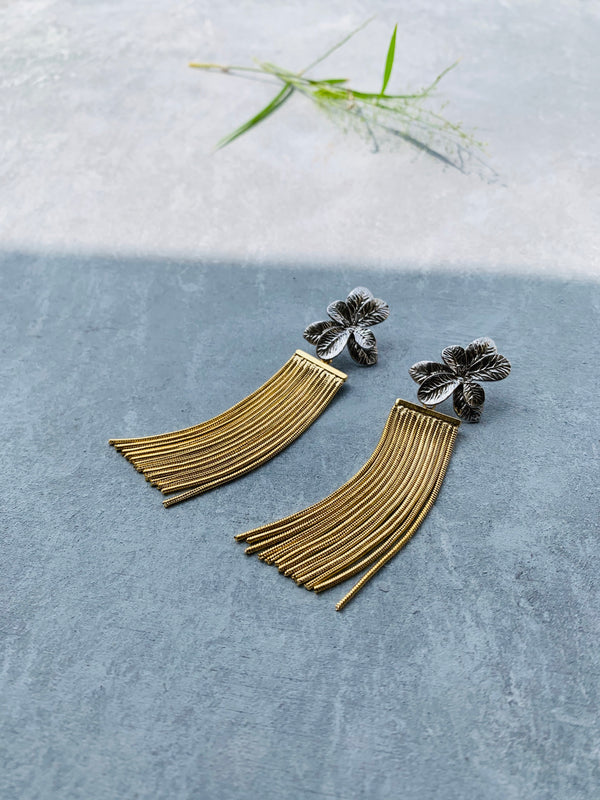 Flower Fringe(Silver & Gold)