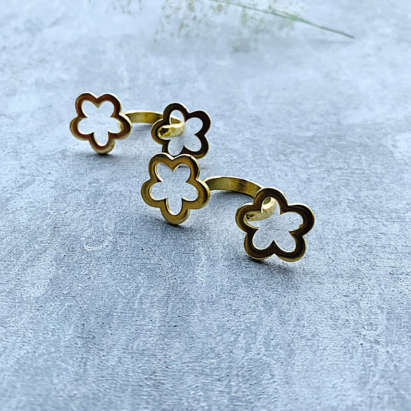 Twin flower Ring