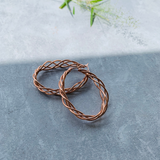 Twisted Oval Hoop - Rose gold