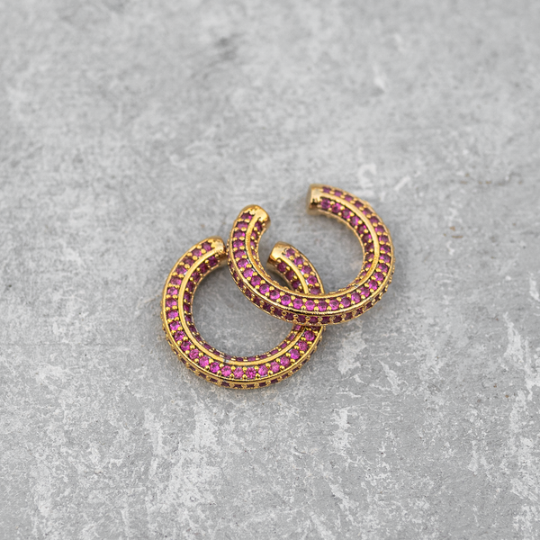 Pink Studded Ear Cuff  (Single Piece)