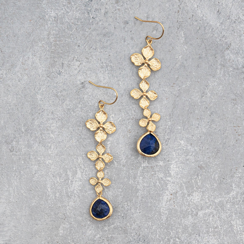 Cute Floral With Lapis Lazuli Dangler