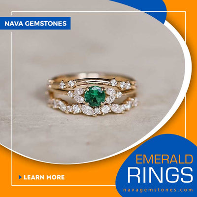 Get Only These Radiantly Beautiful Emerald Rings From Nava Gemstones